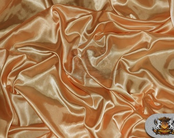 """Satin Charmeuse Solid Fabric TANGIER / 60"""" Wide / Sold by the yard"""