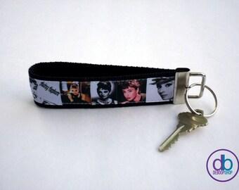 Audrey Hepburn Inspired Key Fob - Wristlet
