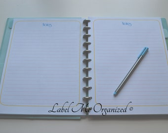 Notes Page - Letter Sized