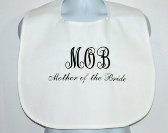 Mother In Law Bride Bib, Custom Funny Adult, Prank, Rehearsal Wedding Dress Cover Up Protector, No Shipping Fee, Ready To Ship, AGFT 803