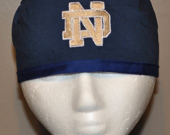 University of Notre Dame Fighting Irish Embroidered Men's Scrub Cap/Hat - One Size Fits Most