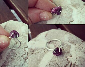 Raw ruby ring!