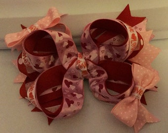 Pretty in Pink Valentine Boutique Bow