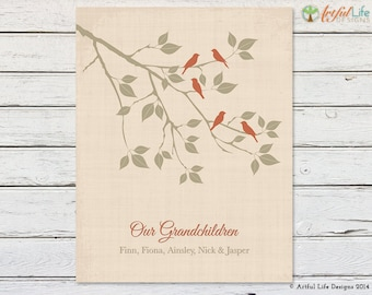 Personalized Gift for Grandmother, Grandma from Grandchildren, Grandkids, Mother's Day, Anniversary, Birthday