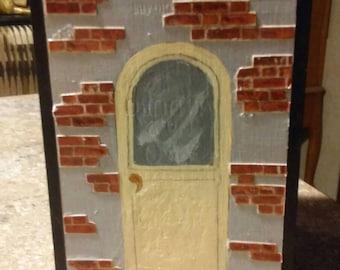 Handpainted wood room box