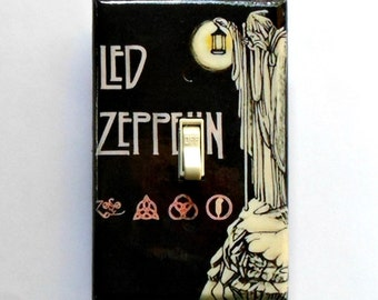 Led Zeppelin set Switches & Outlets w/ MATCHING SCREWS Led Zeppelin album Led Zeppelin poster Houses of the Holy Stairway to Heaven Zeppelin