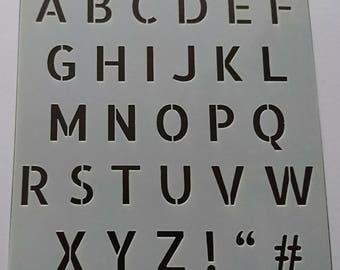 Alphabet Stencil / Mask by Imagine Design Create