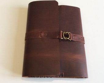 Leather Planner Cover,notebook for Great Memories,hand stitched and made in NYC By NadiraBag
