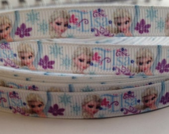 3/8 Ice Queen Ribbon- 3 yards