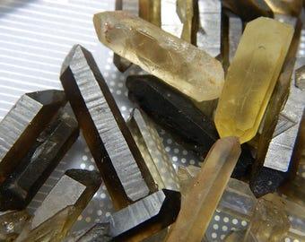 Natural Raw Chunk Purifying Tibetan Black Quartz Crystal Wands -  Natural Texture Rough Edges Black Quartz Pendant - 1 Quartz Wand Per Order