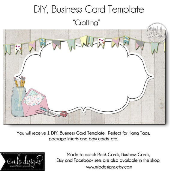 Crafting business card template crafting business card reheart Choice Image