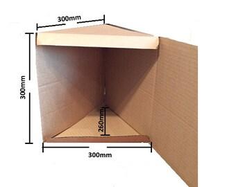 The Perfect Box  -  LargeTriangular  BOXES Triangular for Book Folding, Book Art, Folded Books 300mm x 300mm x 300mm Triangular