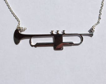 Silver Trumpet Necklace