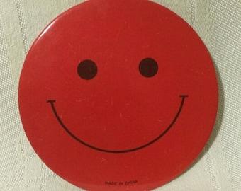 Original Vintage Red Smily Face Button/Pinback