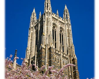 Duke University Duke Chapel in Spring