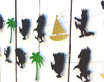 Where the Wild Things are Garland - Wild One, Wild Things Party Theme