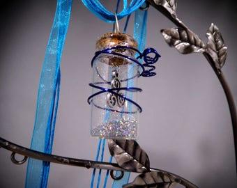 Silver, Fairy Dust Necklace, Pixie Dust Necklace, Magic Dust Necklace, Mini Cork Bottle, Fairy Dust, Pixie Dust, Wish Dust, Magic Dust