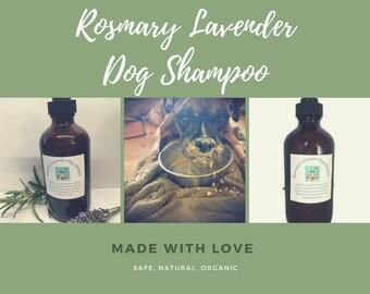 Rosemary Lavender Dog Shampoo, Natural Dog Shampoo, Safe Dog Shampoo