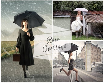 40 Rain Photoshop Overlays,  Photoshop Overlays, Texture, Photo Overlays, Rain Texture, Digital Backdrop, Instant Download
