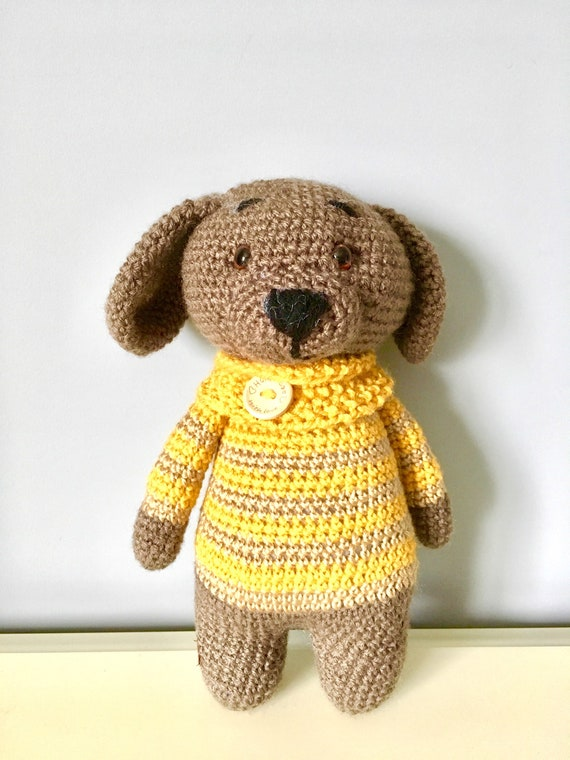 Crochet puppy dog  Amigurumi kids gift ideas baby shower boys girls home decor cute puppies toys soft toys handmade knitted toys  nursery
