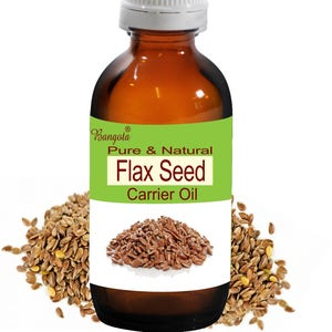 Flax Seed Oil -  Pure & Natural  Carrier Oil