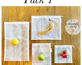 Produce Bags | Reuseable Fruit and Vegetable Bags | Fresh Food Bags