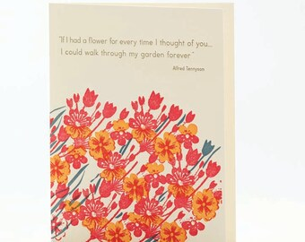 A2-65 If I had a Flower... --  Note Card
