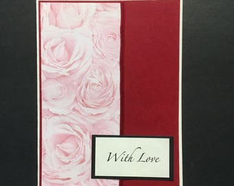 With Love blank greeting card