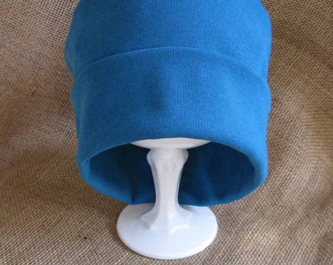 All Things Blooming Women's Chemo Headwear - Cotton Soft and Comfy Teal Chemo Cap