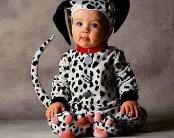 Dalmation puppy dog costume  sc 1 st  Etsy & Dalmation Puppy Ears and Tail / Puppy Ears Headband