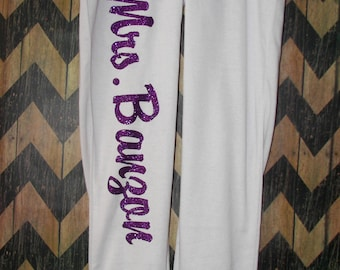 Customized Mrs Sweatpants on the side