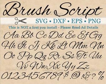 ELEGANT Script Font Monogram Svg Dxf Eps Png Digital  Fancy