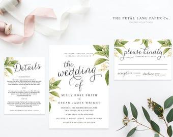 Editable Wedding Invitation Template   Wedding Invitation Printable   Printable Wedding Invitation   Wedding Invitation Download - PLP_002