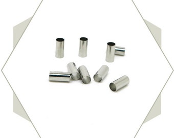 20 tubes beads silver 3x6mm tubes for bracelets, beads to go, BA16