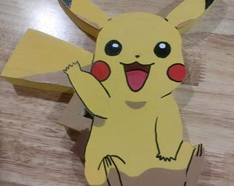 Pokemon Custom Pikachu Wooden Wall Art Plaque