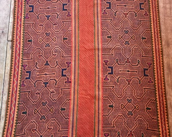 Burnt Orange Shipibo Mesa Cloth