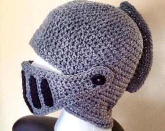 Knights helmet / Crochet hat
