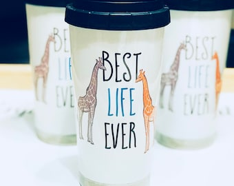 Best Life Ever 16oz. Stainless Steel Thermos - Animals