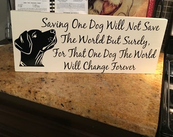Save One Dog....Change His World Forever