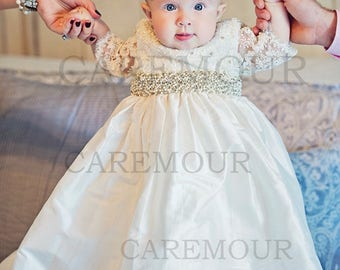 Baptism dress for baby girl, christening gown, baptism dress, christening gowns, baptism dresses, lace christening gown