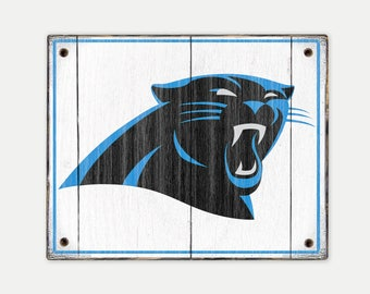 Carolina Panthers sign - Print applied to wood - Panthers fan gift - Man cave Boys room Sports Bar decor Fathers Day gift for Dad