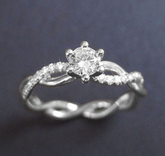 Infinity Knot Diamond Engagement Ring Infinity Engagement