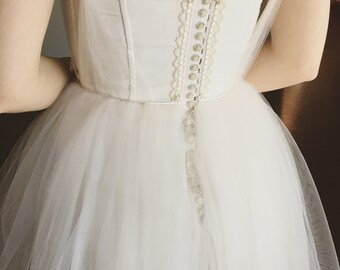 White Ballerina Wedding/Prom Dress