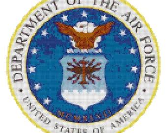 Airforce Logo Cross Stitch Pattern