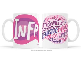 Socially Awkward INFP Gift MBTI Gift Introvert Mug Emotional Support Myers-Briggs Shhh infp Mug Introverts Unite Personality Mug INFP