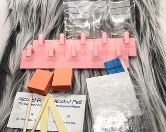 DIY Press on Nail custom kit | Nail Adhesive tabs | Nail Stands | Fake Nails | False Nails | Glue On Nails | Presson Nails