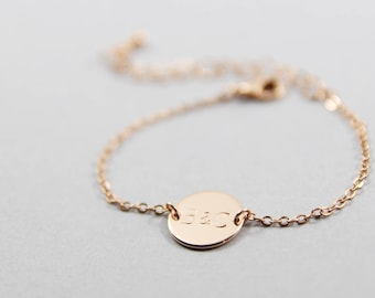 Personalized Initial Disc Bracelet | Initial Bracelet | Disc Bracelet | Custom Bracelet | Initial Disk | Graduation Gift | Mothers Day Gift