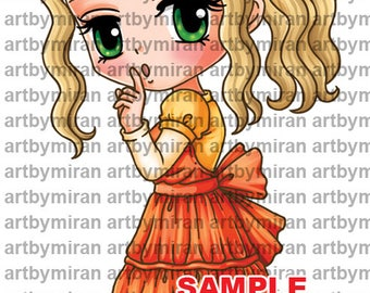 Digital Stamp -Shh(#344), Digi Stamp, Coloring page, Printable Line art for Card and Craft Supply