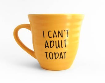 AdultGift | Large Mug | Upcycled Mug | Funny Mug | Quote Mug | Gift Idea | Ceramic Coffee Tea Mug | Funny Gift | Father's Day Gift