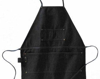 Legendary Work Horse Heavy Denim Apron in Blue or Black. Full Apron. Mens Apron. Womens Apron. Kitchen Apron. Work Apron. Grill Apron.